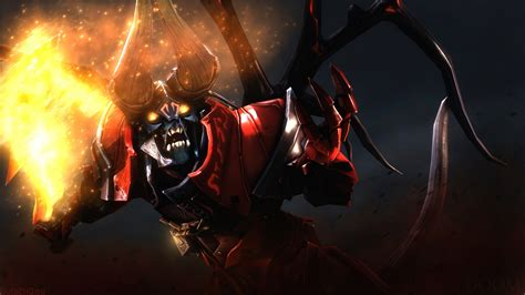 Full Hd Wallpaper Lucifer Demon Doom Dota 2 Art, Desktop