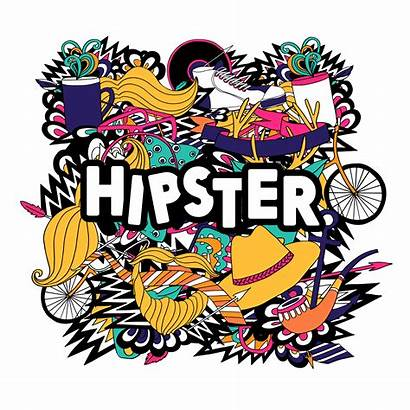 Hipster Lifestyle Symbols Vector Poster Flat Composition