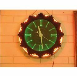 Neon Clock 1930s 40s