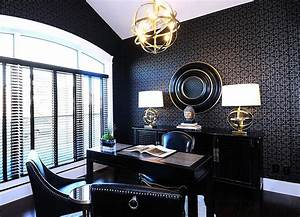 10 creative home offices with an asian influence for Office wallpaper designs