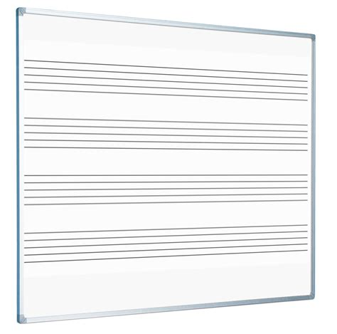 Starterkit Tray Nan pre printed staves whiteboards 4 lines