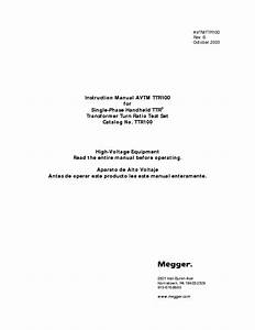 Megger Bm10 Insulation Tester Instruction Manual Service