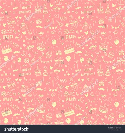 happy birthday seamless background pattern in vector stock happy birthday seamless background stock vector