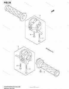 Suzuki Motorcycle 2003 Oem Parts Diagram For Handle Switch
