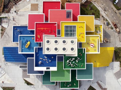 la maison des lego color coded lego house designed by big now open in denmark urbanist