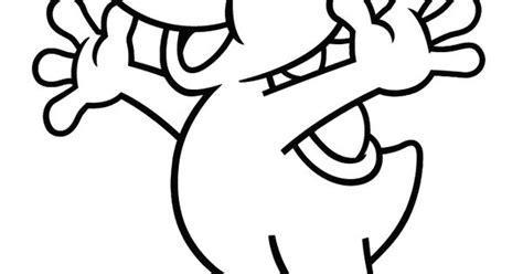 Yoshi Jumping Coloring Page