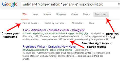 Craigslist Resume Search by Find Advertised Freelance Writing Quickly