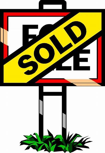 Estate Clipart Clip Sold Sign Sell Property