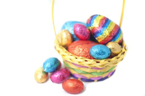 Easter Basket Filled With Eggs Creative Commons Stock Image