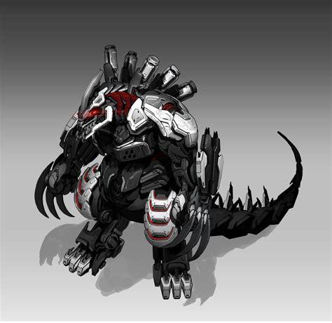robot zilla concept cyber artstation boss dragon monster animal character robots space whon lon cdna