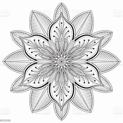 Flower Mandalas Vector Floral Coloring Mandala Pages