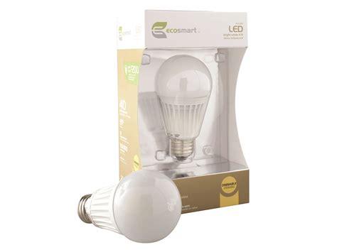 home depot ecosmart a19 8 6w led bulb review led resource