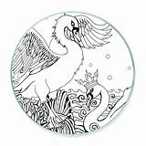 Swan Coloring Swans Twin Flame sketch template
