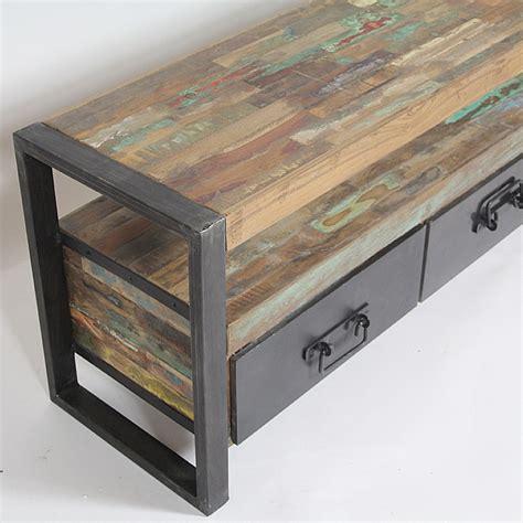 meuble cuisine d angle meuble tv industriel bois et métal 3 tiroirs madeinmeubles