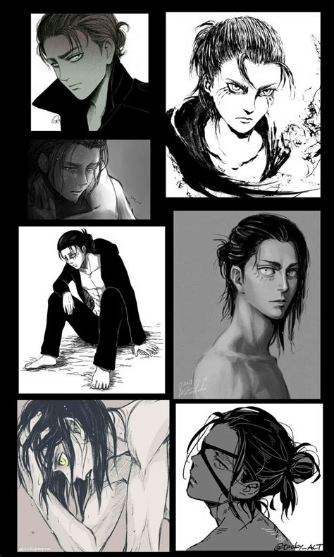 Eren yeager (long hair) by reb1rthdc watch. Long Hair Eren Jeager
