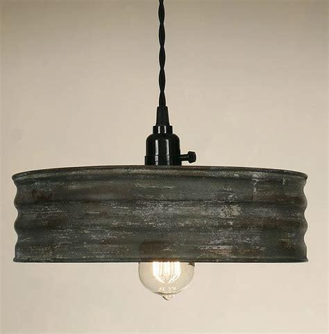 vintage industrial lighting vintage rustic primitive industrial sifter pendant light