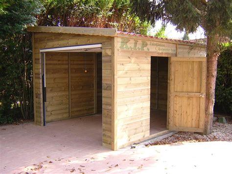 garage bois adosse maison d 233 couvrez nos garages bois toutes dimensions