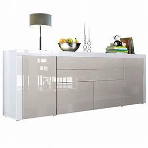 Sideboard Weiß 200 Cm : la paz v2 mit absetzungen t ren klappen schubladen ~ Markanthonyermac.com Haus und Dekorationen