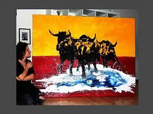 Bild Malen Lassen : stier gemalt kaufen abstrakte kunst in xxl online kaufen ~ Orissabook.com Haus und Dekorationen