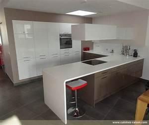 Cuisine Moderne Design : cuisine en u corian clair cuisines raison ~ Preciouscoupons.com Idées de Décoration