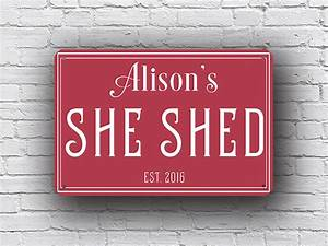 Personalized She Shed Signs Custom Signs Classic Metal