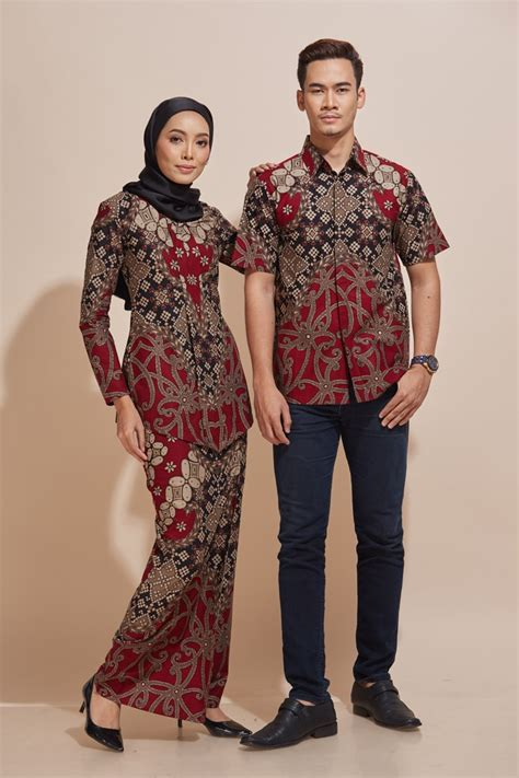 khaled kemeja batik kh49 habra fashion gallery