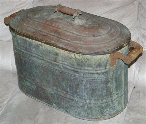 kitchen trash can copper boiler or canner from about 1900 antique2178