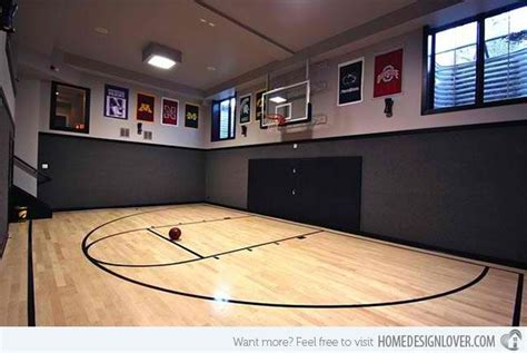 ideas  indoor home basketball courts home