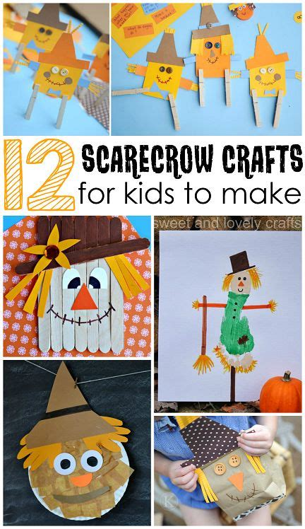 scarecrow crafts for to make this fall popsicles 241 | 48da0fdf0dc16fa01e043de810381849