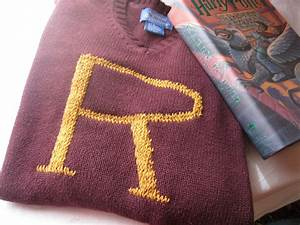lighting With harry potter letter sweater