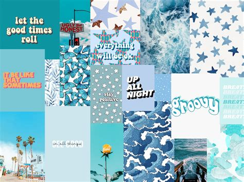 wallpaper lockscreen desktop blue collage