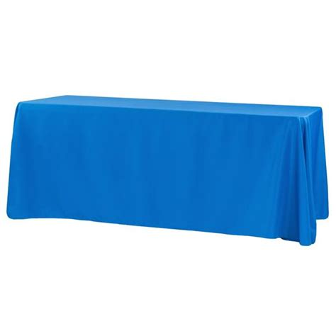 "Economy Polyester Tablecloth 90""x132"" Rectangular Royal"