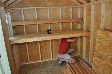 build shed storage shelves  project closer