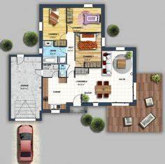 Plan de maison en bois contemporaine en kit de presque for Attractive plan maison etage 100m2 6 projets immobiliers loire atlantique 44