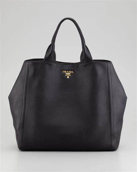 Large Bag lyst prada large tote bag in black