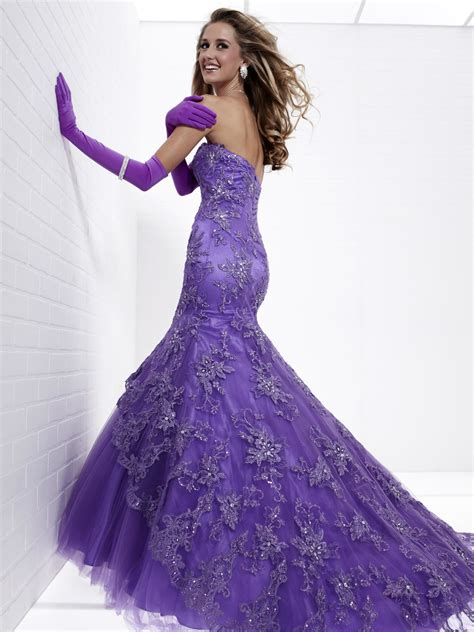 And Es Black Purple Mermaid Wedding Dress White And Es Uk