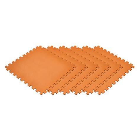 norsk sport floor mats norsk orange 24 in x 24 in x 0 47 in foam interlocking