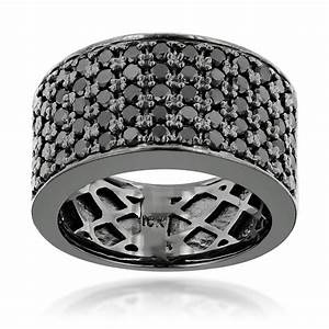 15 collection of black diamond wedding bands for him for Diamond wedding ring for him