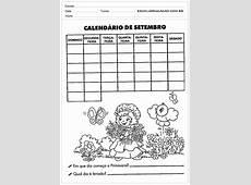Calendário de Setembro Escola Educação