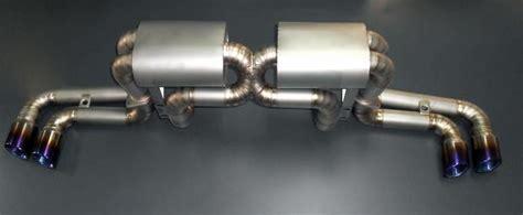 ferrari  titanium vip exhaust system millionaire racing