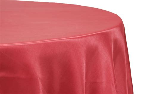 """Satin 132"""" Round Tablecloth Guava Wedding table linens"""