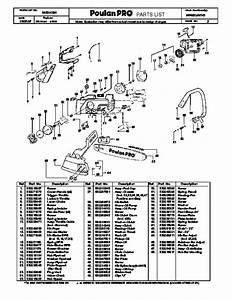 2007 Poulan Pro Pp4620avhd Chainsaw Parts List