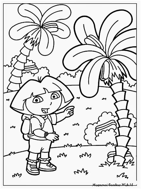 gambar mewarnai gambar kentang pohon jagung diwarnai di