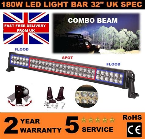180w 32 quot high power led light bar combo flood and spot alu
