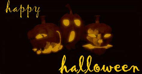 animated  gif happy halloween pumpkins sign banner
