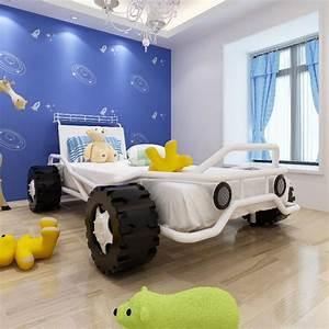 Kinderbett 200 X 90 : lit enfant voiture avec matelas 200 x 90 cm ~ Yasmunasinghe.com Haus und Dekorationen