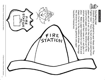 Firefighter Hat Template Preschool by Firefighter Hat Craft Printable Arts Crafts And Skills