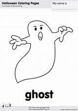 Halloween Ghosts Ghost Coloring Simple Super Worksheets Pages Flashcards Flashcard Crafts Supersimplelearning Cards Kid Learning Easy Goblins Printables Creepy Song sketch template