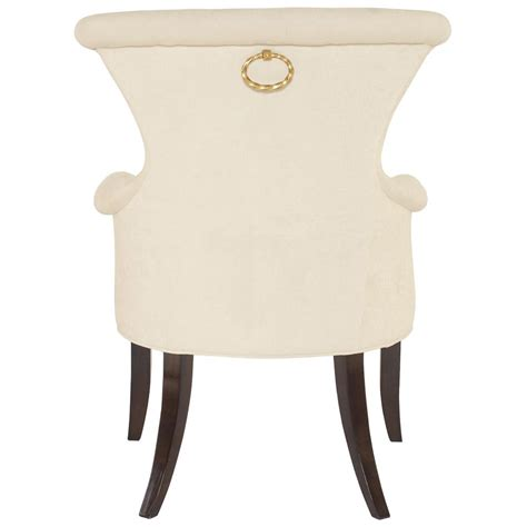 modern classic ring pull ivory armchair pair