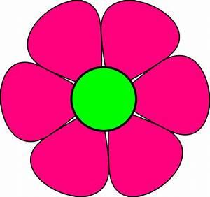 Pink Flower 3 Clip Art at Clker.com - vector clip art ...